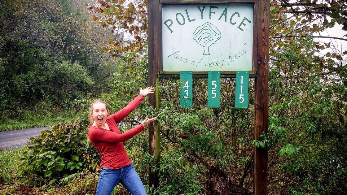 At the Polyface Sign